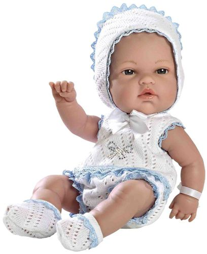 Arias White and Blue Swarovski Doll